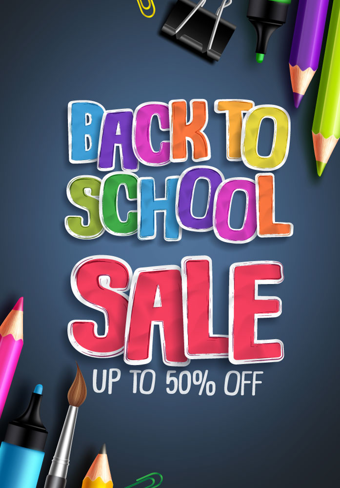 Pink back to school graphic design